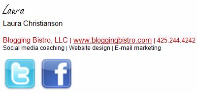 Email Signature Line