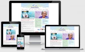 DianeStortz.com | Custom, responsive WordPress website, created by BloggingBistro.com