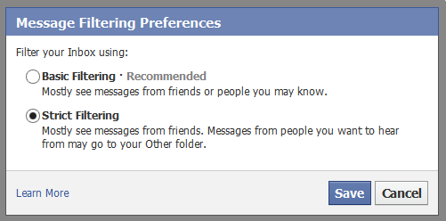Message Filtering Preferences