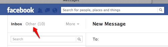 "Facebook's 'Other Message"" Inbox"