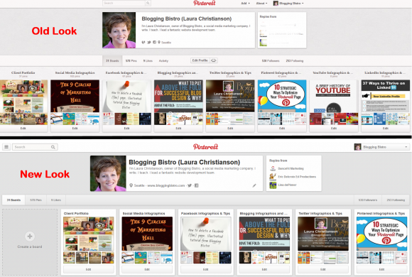 Pinterest Old Look New Look