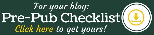 Blog post pre-publication checklist | Free download from BloggingBistro.com