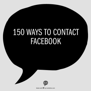 150 ways to contact Facebook