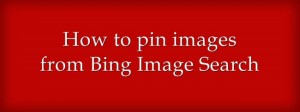 How to pin images from Bing Image Search