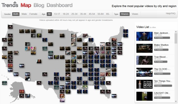YouTube Trends Map 580