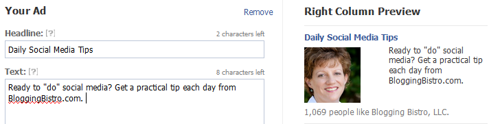 Page Likes Sample Ad