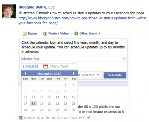 Facebook Scheduler Tool 5