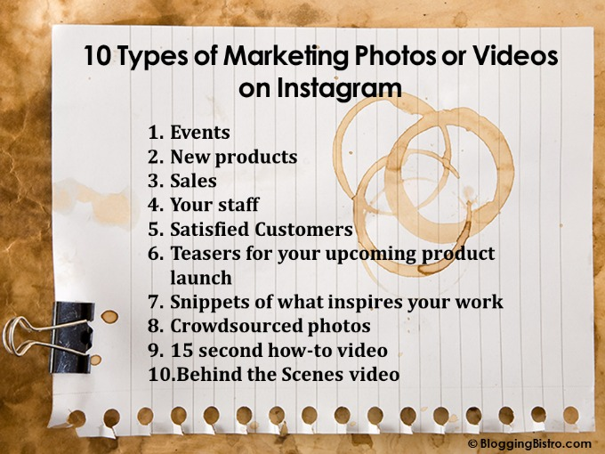 10 Types of Marketing Photos or Videos on Instagram