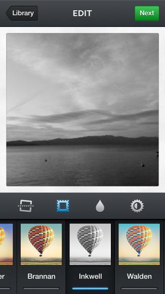 instagram sunset b&w