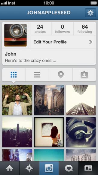 Instagram 3.5 - Profile