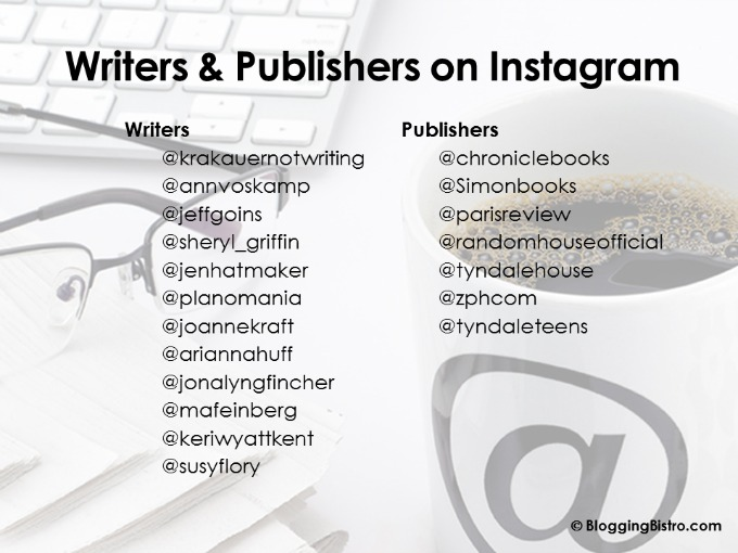 Writers and Publishers on Instagram