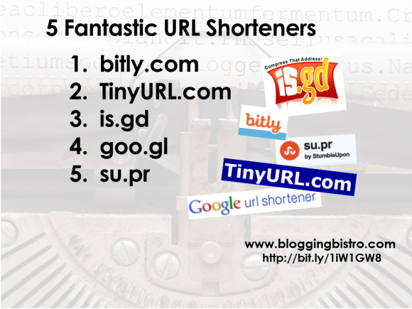5 Fantastic URL Shorteners