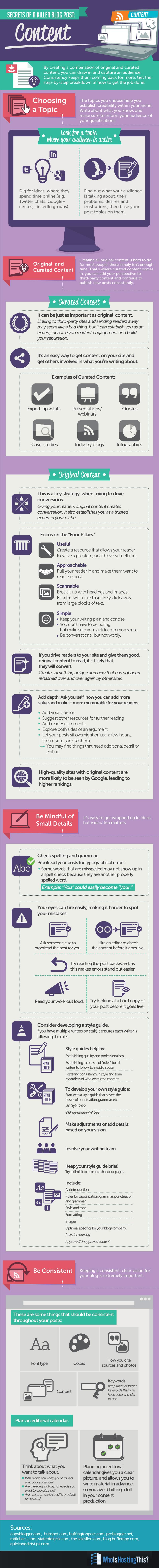 Secrets of a Killer Blog Post, via BloggingBistro.com #Infographic