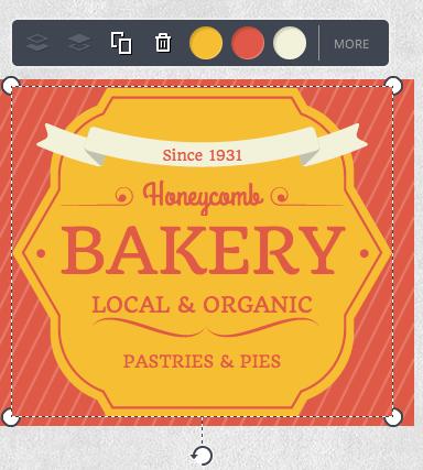 Canva Edit Honeycomb Bakery
