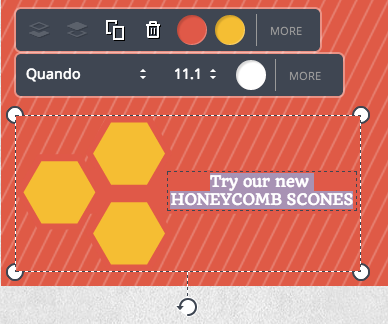 Canva Edit Honeycomb Scones