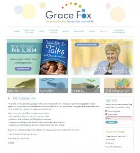 Grace Fox Home Page Screenshot