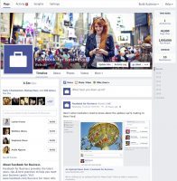 Facebook Page streamlined look