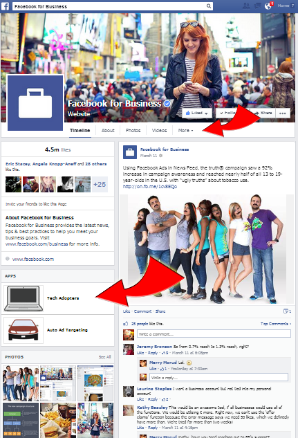Facebook apps location