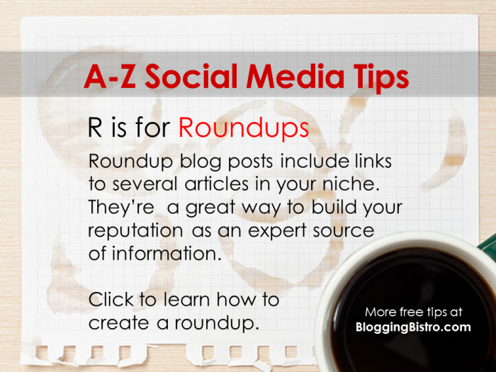 R is for Roundups