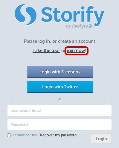 Storify 2 Log In