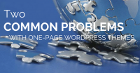 Two common problems with one-page WordPress themes