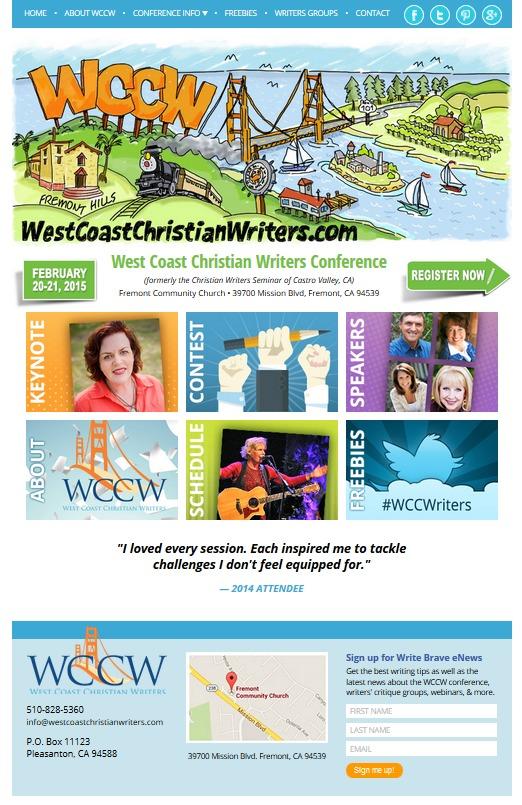West Coast Christian Writers website Home page