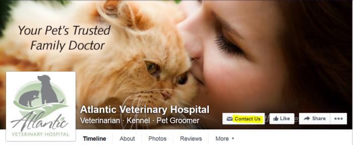 Atlantic Vet Seattle Facebook Call to Action Button
