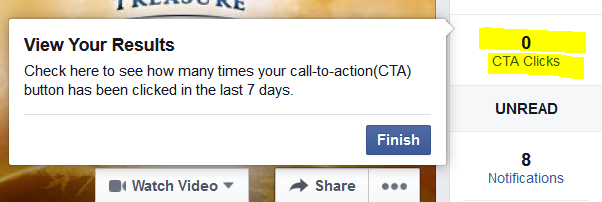 CTA Clicks for Facebook button