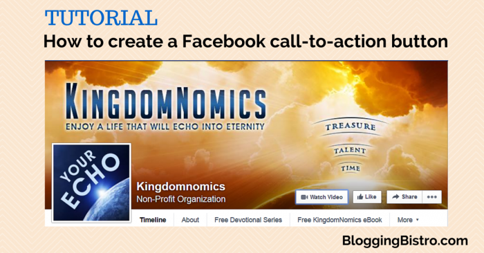 How to create a Facebook Call-to-Action button