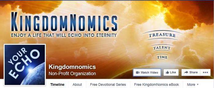 KingdomNomics Facebook Call to action button