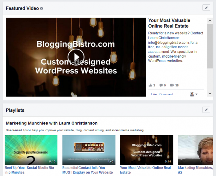 How to customize the Featured Video on your Facebook Page | BloggingBistro.com
