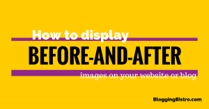 How to display before-and-after images on your website and blog