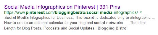 Social Media Infographics on Pinterest from Blogging Bistro