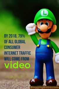 Time spent watching digital video is going up, while time spent watching TV is declining. It's estimated that by 2018, 79% of all global consumer internet traffic will come from video. | BloggingBistro.com