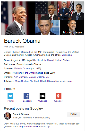 What a search result looks like in 2015