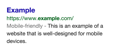 """Google's """"Mobile-Friendly"""" label in SERPs."""