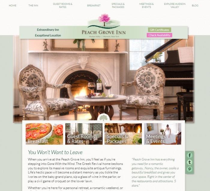 Peach Grove Inn Home Page