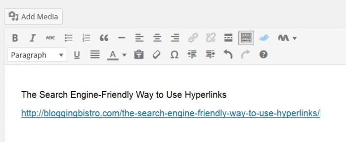 Building a hyperlink step 1