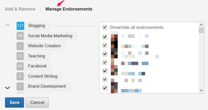 Manage Endorsements