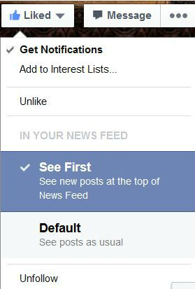 How to see recent updates from Facebook Pages you've liked at the top of your News Feed | Blogging Bistro