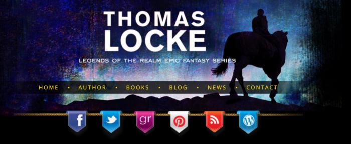 TLocke.com header for Legends of the Realm epic fantasy books