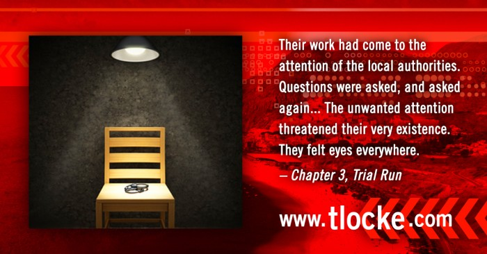 Sample quote graphic from Thomas Locke's Trial Run book launch campaign