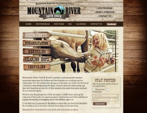 Mountain River Youth Ranch website - custom WordPress responsive site created by Blogging Bistro