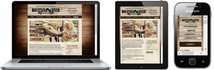 Mountain River Youth Ranch Website - Responsive Design