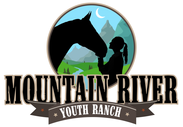 Mountain River Youth Ranch, Stacked Logo Design