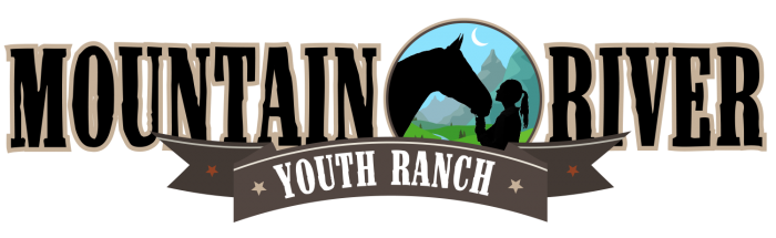 Mountain River Youth Ranch, Wide Logo, Color Version