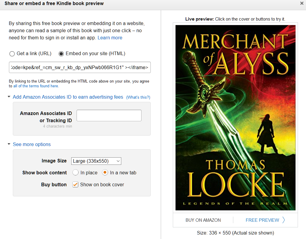Kindle Instant Previews Embed Sample Chapters From Books On