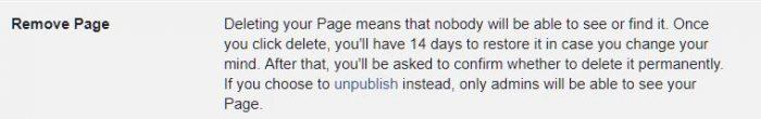 How to delete a Facebook Page | BloggingBistro.com
