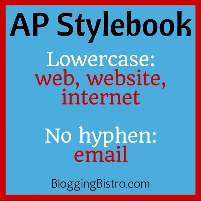 AP Stylebook updates: web, website, internet, email | BloggingBistro.com