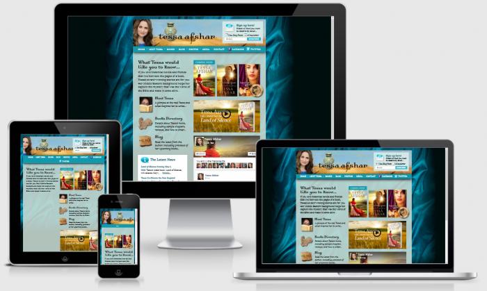TessaAfshar.com | Custom, responsive design WordPress site created by Blogging Bistro